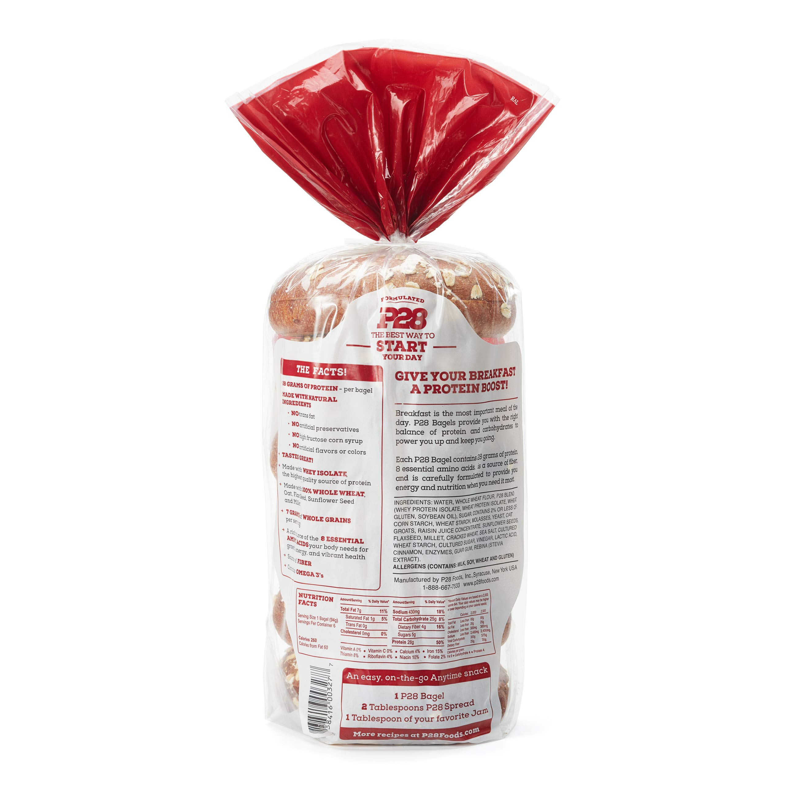P28 High Protein Bagels, 19 OZ by P28 Foods (Image #2)