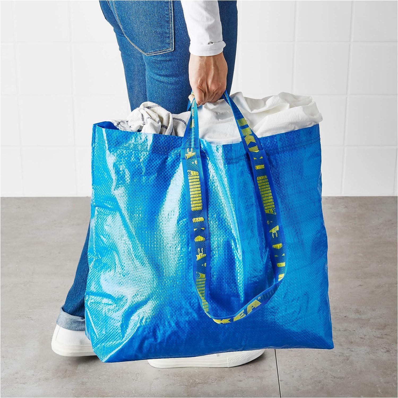 Juego de 15 bolsas grandes Ikea Frakta para la compra o la colada, color azul, polipropileno, azul, 15-Pack