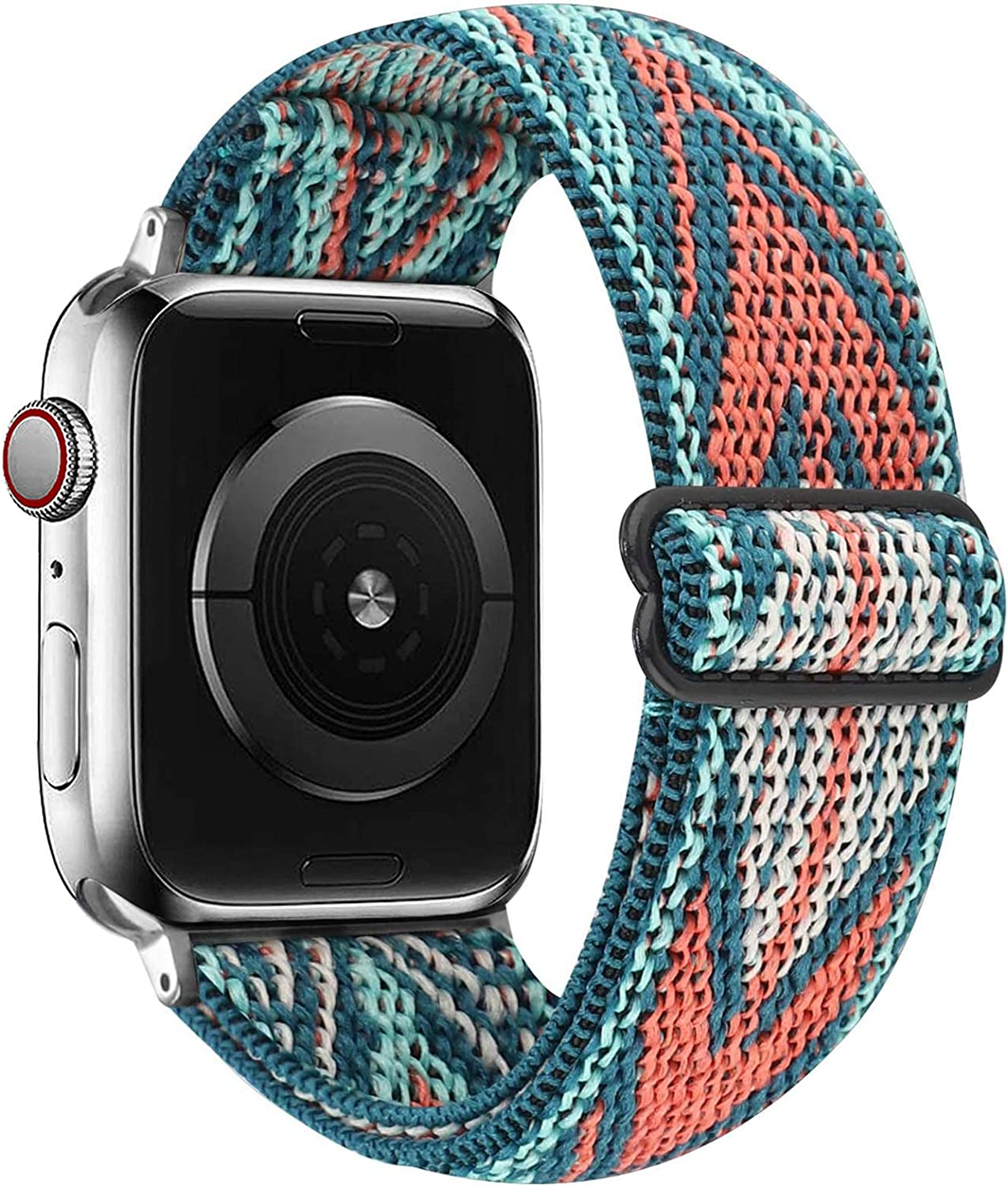 VISOOM Stretchy Band Compatible with Apple Watch band 38mm 40mm 42mm 44mm-Apple Watch Strap for iWatch Series 6/SE/5/4/3/2/1 Accessories Elastics Sports Replacement for Men Women