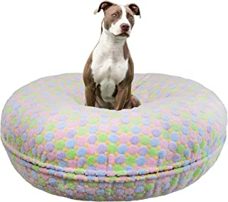 product image for BESSIE AND BARNIE Signature Ice Cream Luxury Extra Plush Faux Fur Bagel Pet/Dog Bed (Multiple Sizes)
