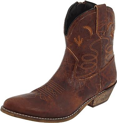 Dingo Women's Adobe Rose Light Brown Distresssed Boot