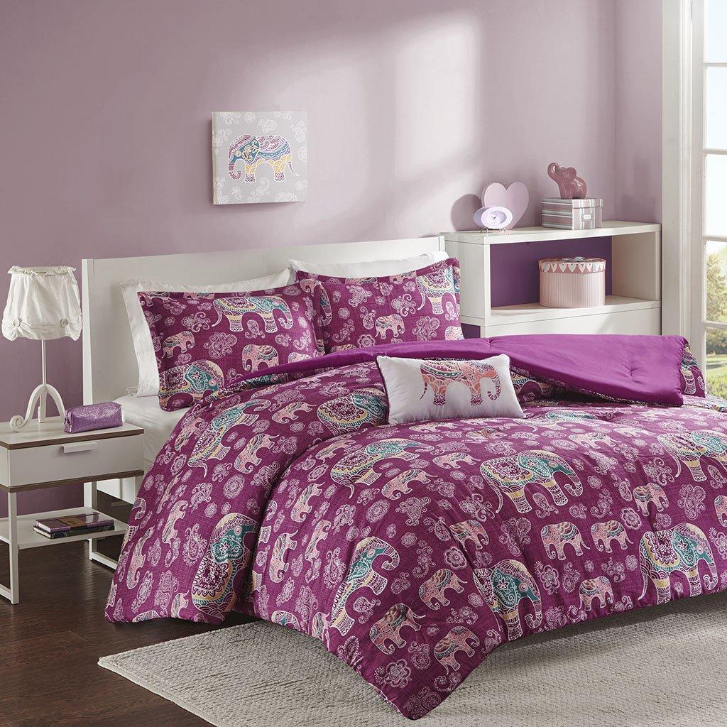 Mizone MZ10-460 Mi Zone Elly Comforter Set Full Fuschia,Full