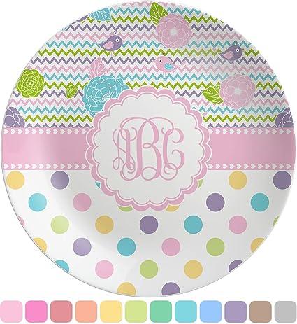 Girly Girl Melamine Plate (Personalized)  sc 1 st  Amazon.com & Amazon.com | Girly Girl Melamine Plate (Personalized): Dinner Plates