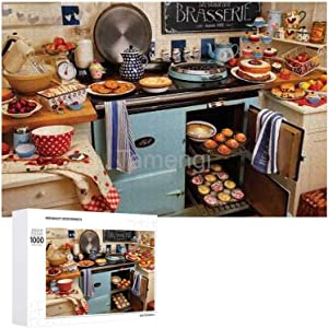 Jigsaw Puzzle 1000 Piece Home Cooking Large Puzzle Game Artwork for Adults Teens for Educational Gift Home Decor (15x20inch)