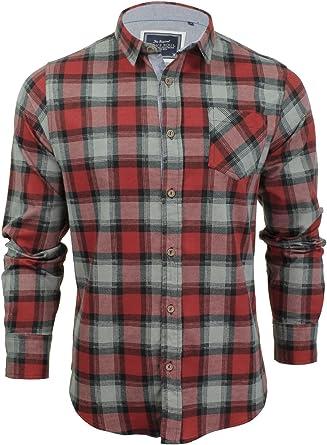 Brave Soul - Camisa informal para hombre. Rojo rosso S