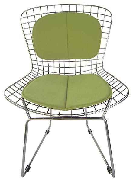 Seat Pad And Back Rest For Bertoia Wire Chair (Miracle Fabric) (Lime Green
