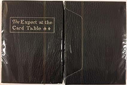The Expert At The Card Table Black Luxury Edition Playing Cards Poker Size  Deck