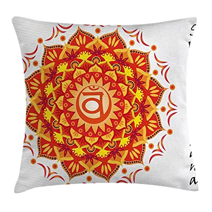 Amazoncom Zqkcmy Chakra Decor Throw Pillow Cushion Cover Lotus