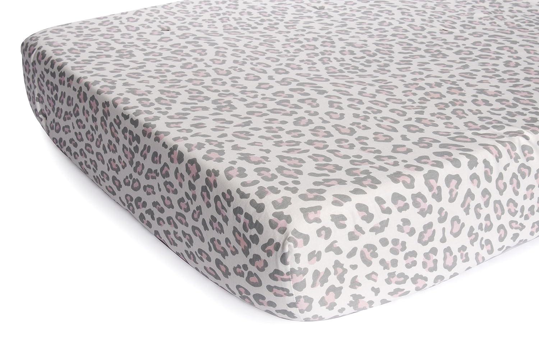 amazon com carter u0027s printed fitted sheet grey cheetah