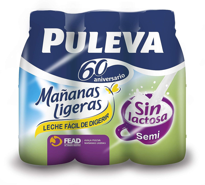 Puleva Leche Mañanas Ligeras Semidesnatada - Pack 6 x 1 L - Total: 6 L: Amazon.es: Alimentación y bebidas