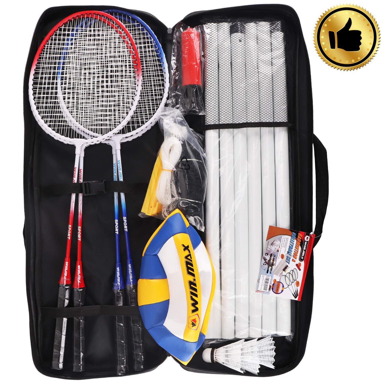 Winmax Badminton Volleyball Combo Set