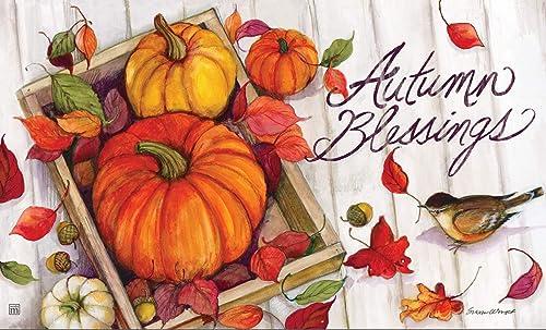 Studio M Thanksgiving Floor Door Mat MatMate 18×30-11963 Pumpkin Crate