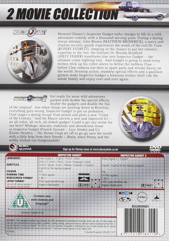Inspector Gadget 1&2 Duopack DVD: Amazon.co.uk: Matthew Broderick ...