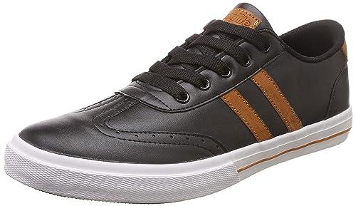 TS-119 Black/Tan Sneakers-8 UK/India