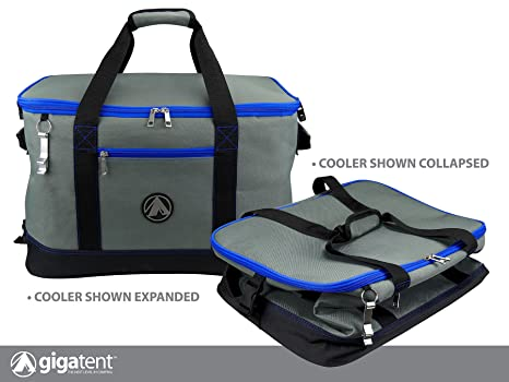 dcd01661c3bf GigaTent Insulated Collapsible Cooler – Soft Lunch Box with Bottle Opener  for Camping, Beach and Travel – Lightweight and Tear Resistant Fabric ...