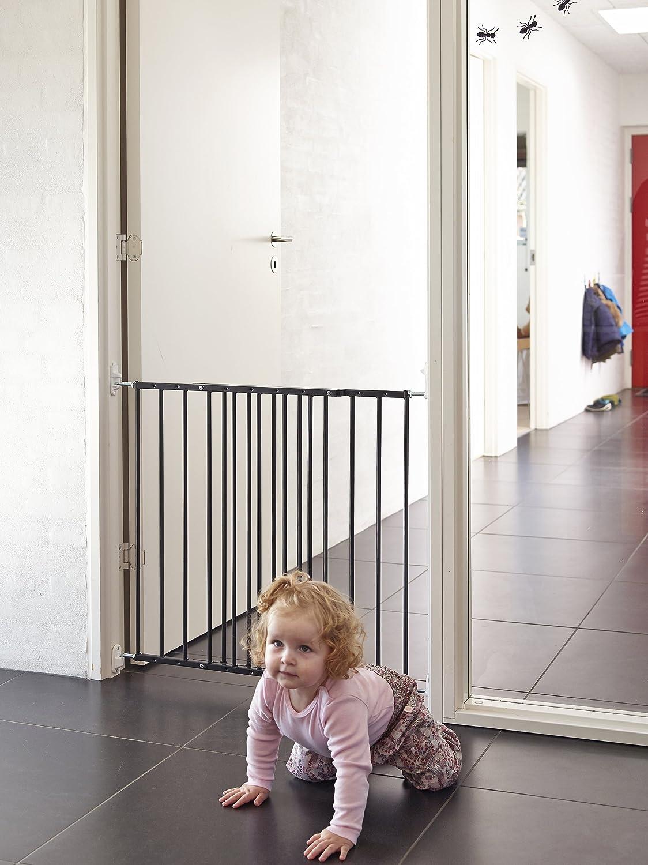 BabyDan Multidan Metal Gate Door//Stairs Black 106,8/62.5/cm