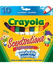 Crayola 10 Scentsations Washable Broad Line Markers, Scented Markers, School and Craft Supplies, Drawing Gift for Boys and Girls, Kids, Teens Ages 5, 6,7, 8 and Up, Back to school, School supplies, Arts and Crafts,  Gifting