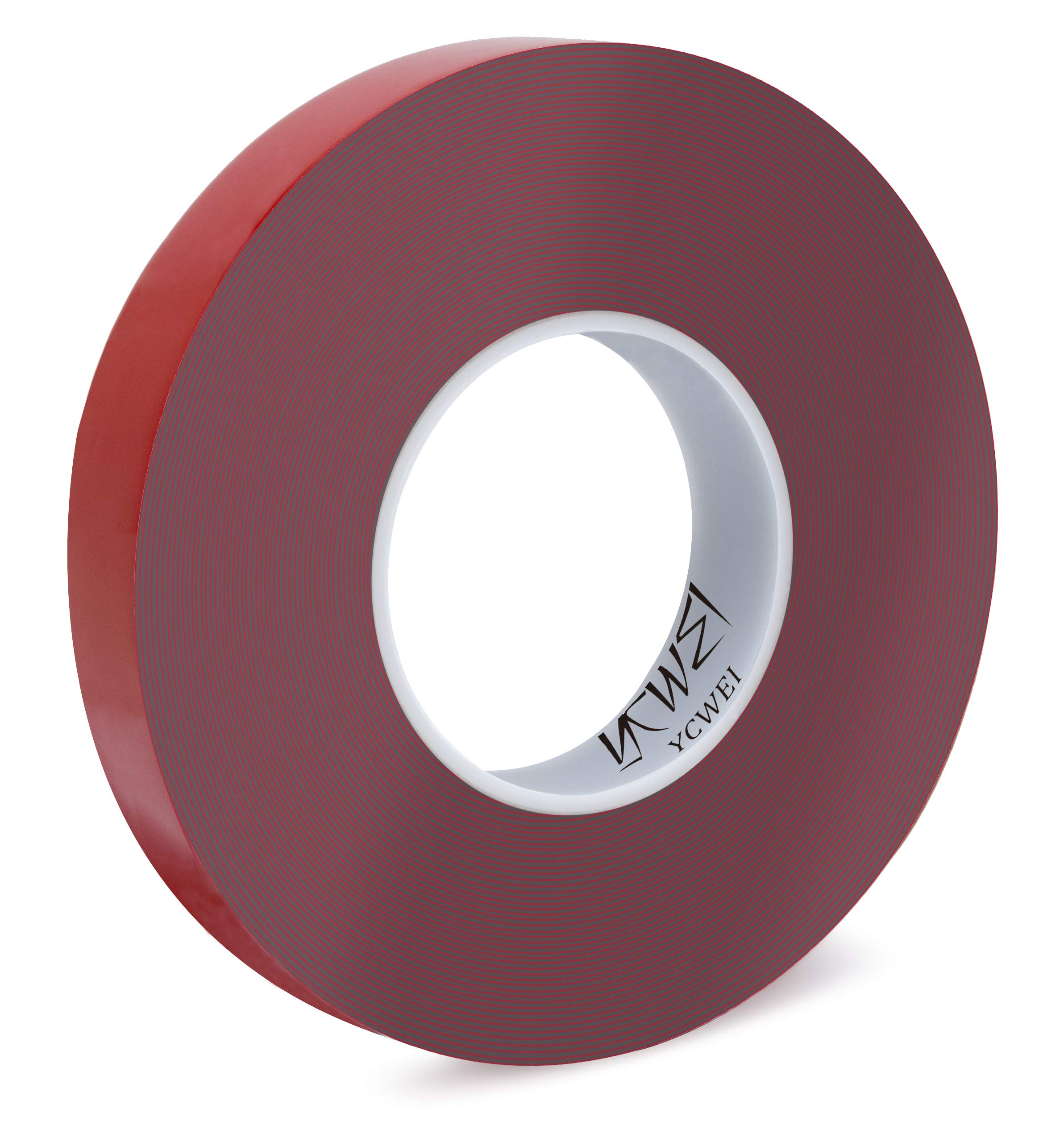 Double Sided Acrylic Heavy Duty Mounting Tape,Removable,Gray,Tough Bonding Strength,Weatherproof Indoor and Exterior Double Sides Brick Mounting Tape,1 in x 440in- 1mm Thickness 1 PCS by YCWEI
