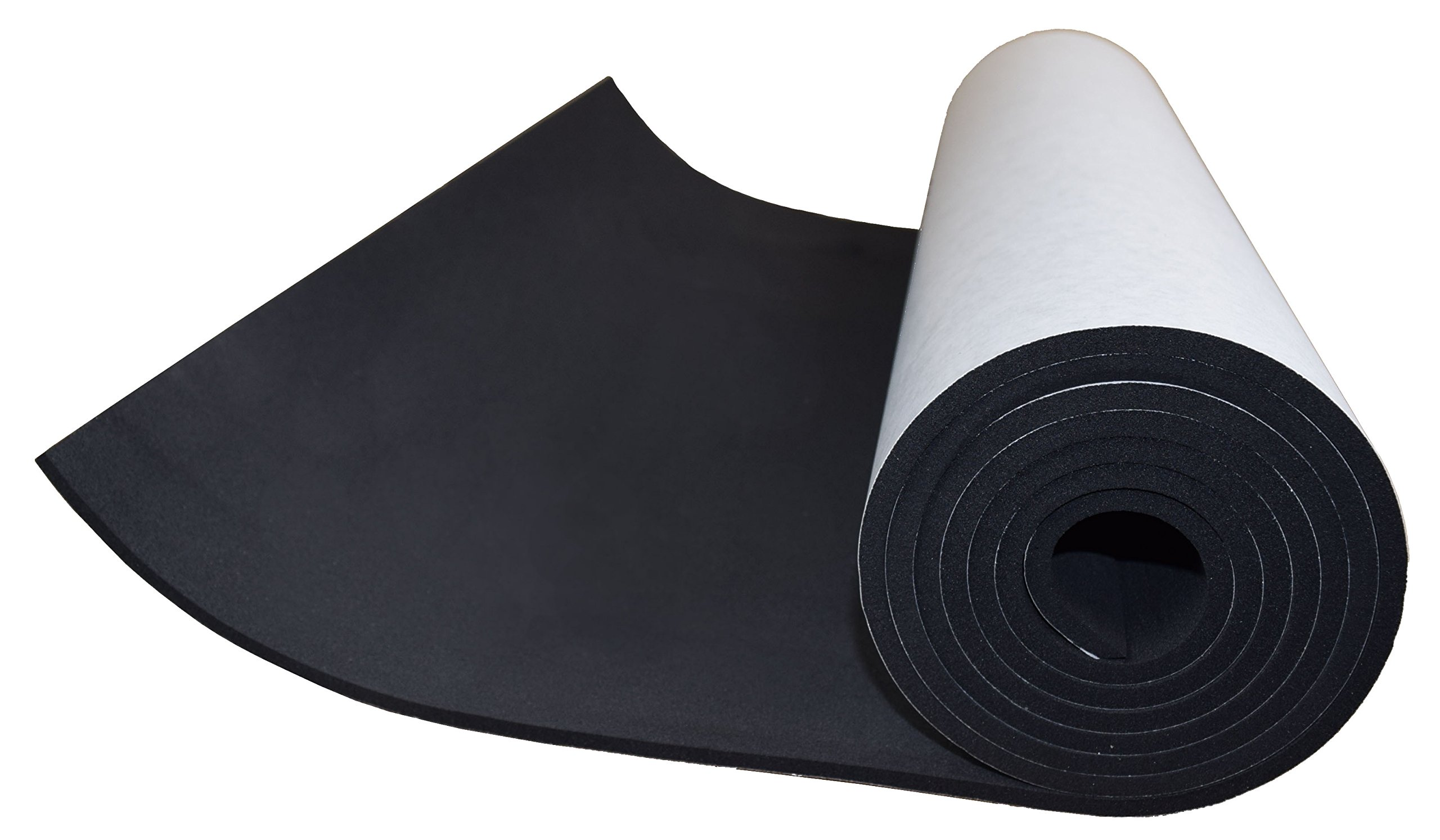 XCEL Extra Large, Value Roll, Sponge Neoprene Sheet with Adhesive 72 in x 17 in x 1/4 in, Made in USA, Easy Cut Material by XCEL