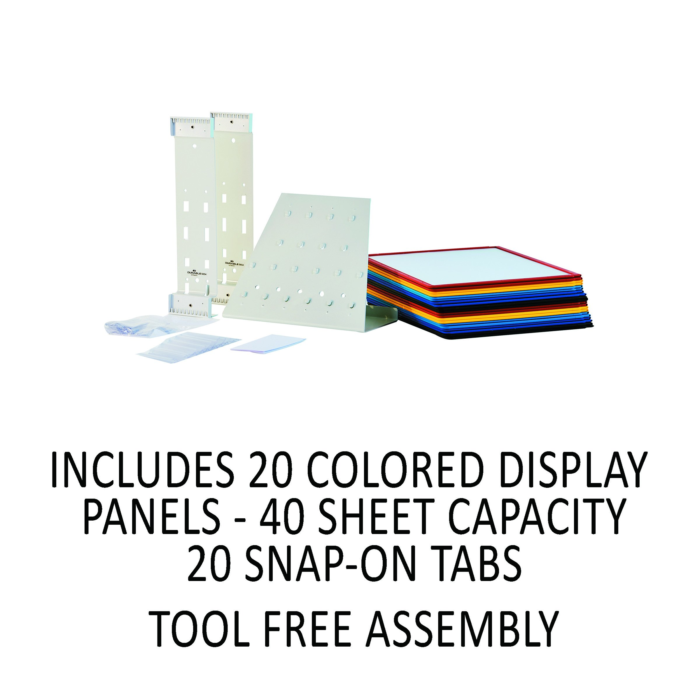 DURABLE Vario 20-Panel Desktop Reference System, Assorted Color Borders (536100) by Durable (Image #11)