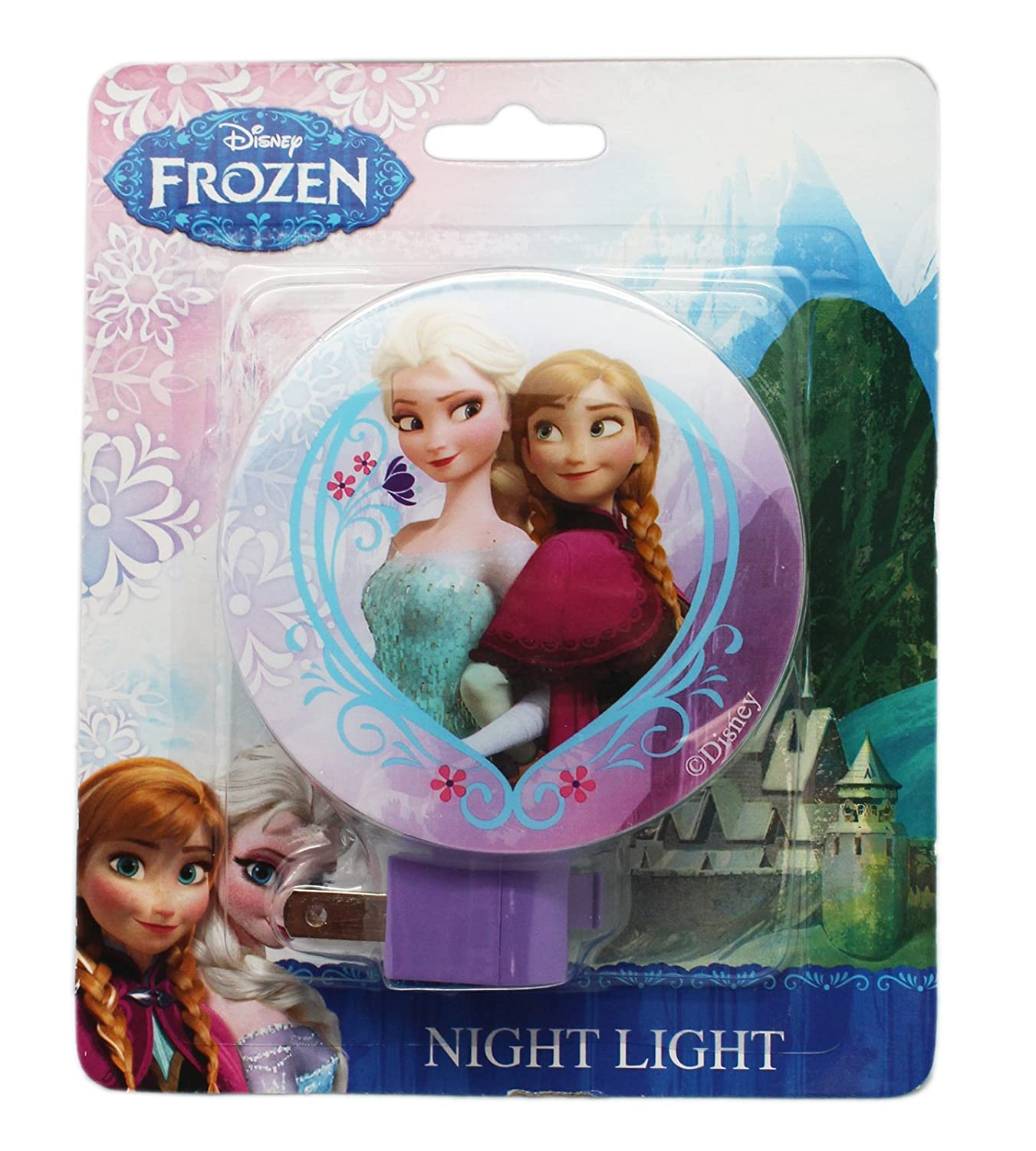 Amazon.com: Disney Frozen Anna y Elsa Plug In Luz Nocturna ...