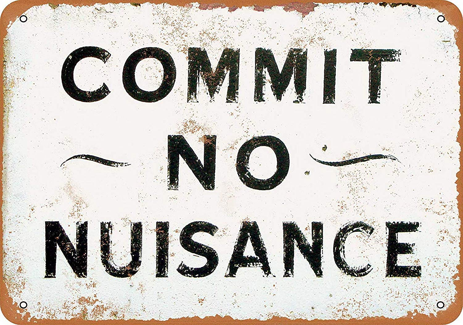 HALEY GAINES Commit No Nuisance Placa Cartel Póster de Pared ...