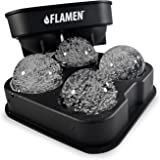 Flamen Fast-Release Flexible Silicone Ice Ball Maker Tray/Molds - Round Ice Ball Spheres