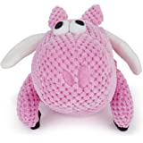 goDog Checkers with Chew Guard Technology Tough Plush Dog Toy