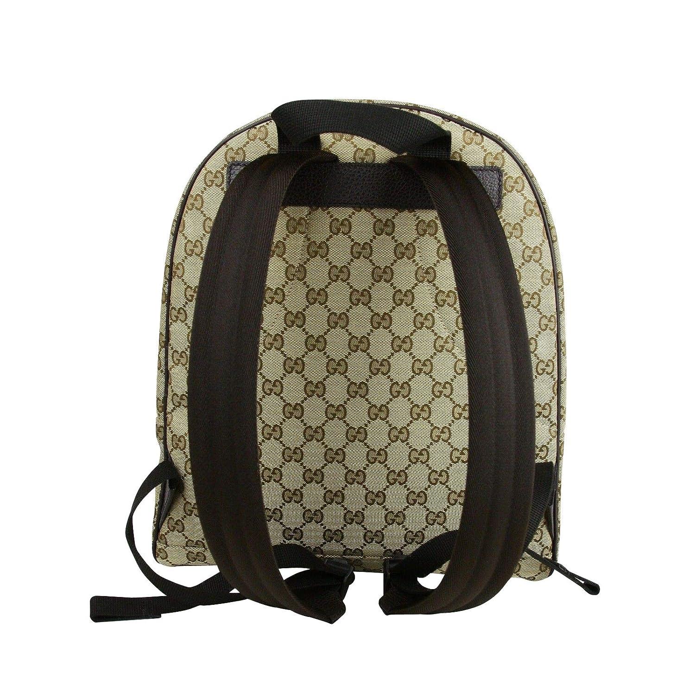da2a5fe10 Gucci Unisex Zipper Top Beige/Brown GG Canvas Backpack 449906 9873:  Amazon.co.uk: Computers & Accessories
