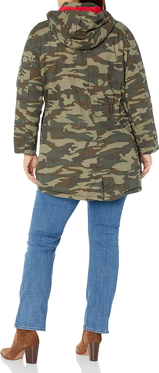 Urban Republic Women's Juniors Cotton Twill Jacket Olive Camo