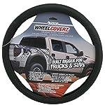 Alpena 10604 Truck/SUV Black Leather Steering Wheel Cover