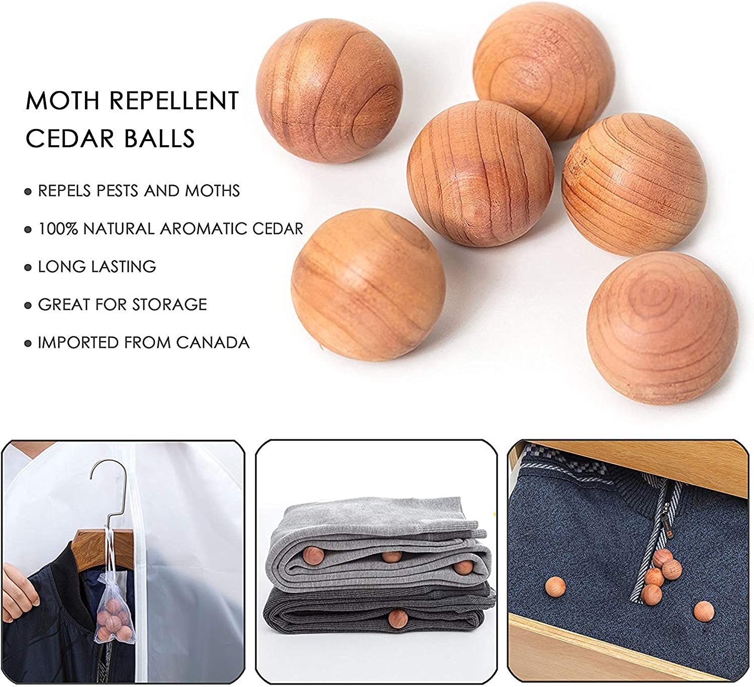 allhom Hanging Garment Bag for Storage Travel Suit Bag Sturdy Zipper Dust Proof Clothing Bag Pack of 6 with Cedar Ball in 4 Medium and 2 Large