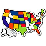 """USA Sticker Map (13x20"""") for RV Camper & Motor Home - State Map - Travel Map - Travel Stickers - RV Accessories"""