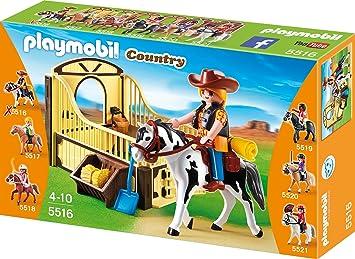 Playmobil 5516 Tinker Mit Braun Gelber Pferdebox Amazon De Spielzeug