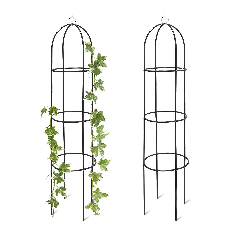 2x Trellis Obelisks Freestanding Trellis Decorative Metal Climbing Frame for Gardens, Trellis, Green, H x W x D 190 x 40 x 40 cm. Unknown