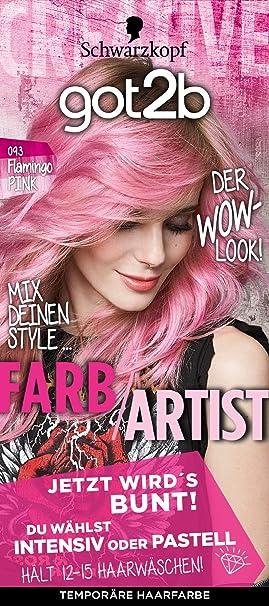 Schwarzkopf got2b 093 Flamingo Rosa Color de Artist Color del pelo (3 unidades, X 80 ml)