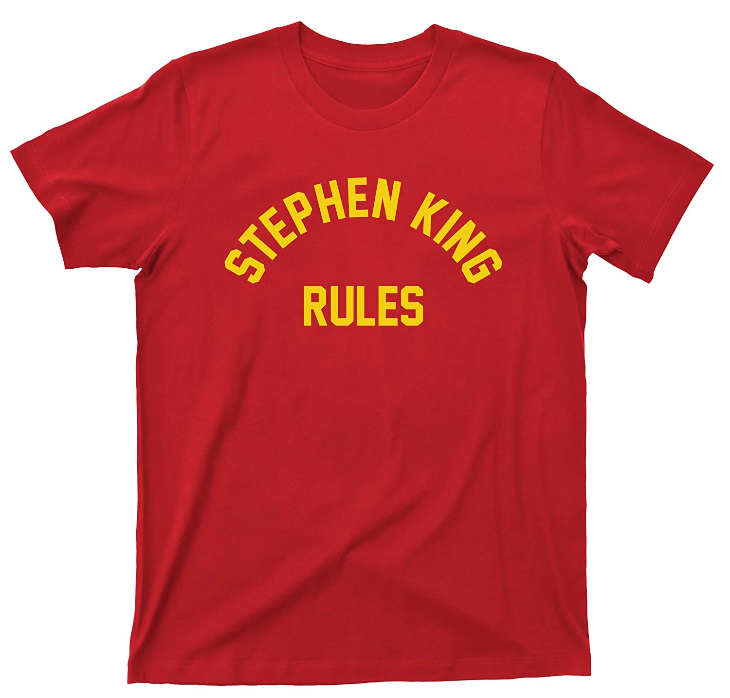 298e17453 Amazon.com: Stephen King Rules T Shirt Author of Fiction Scary Horror  Movies Monster Squad Tee: Clothing