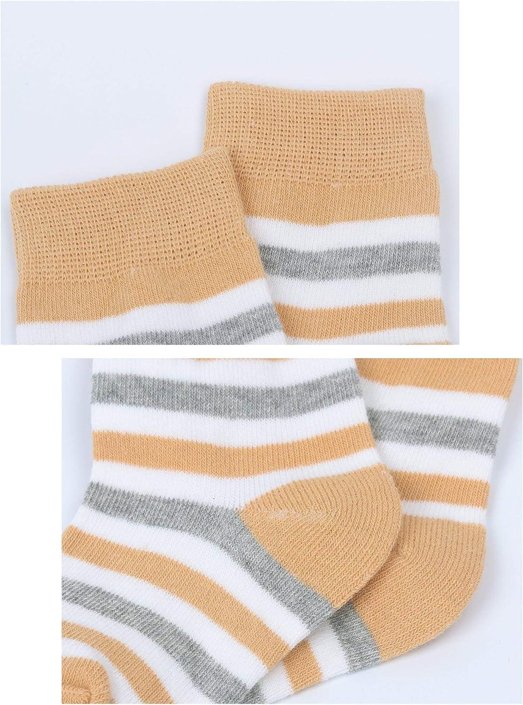 DEBAIJIA Cinq Paires Chaussettes B/éb/é Enfant 0-6 Ans Gar/çon Fille Coton Pur Doux Color/ée