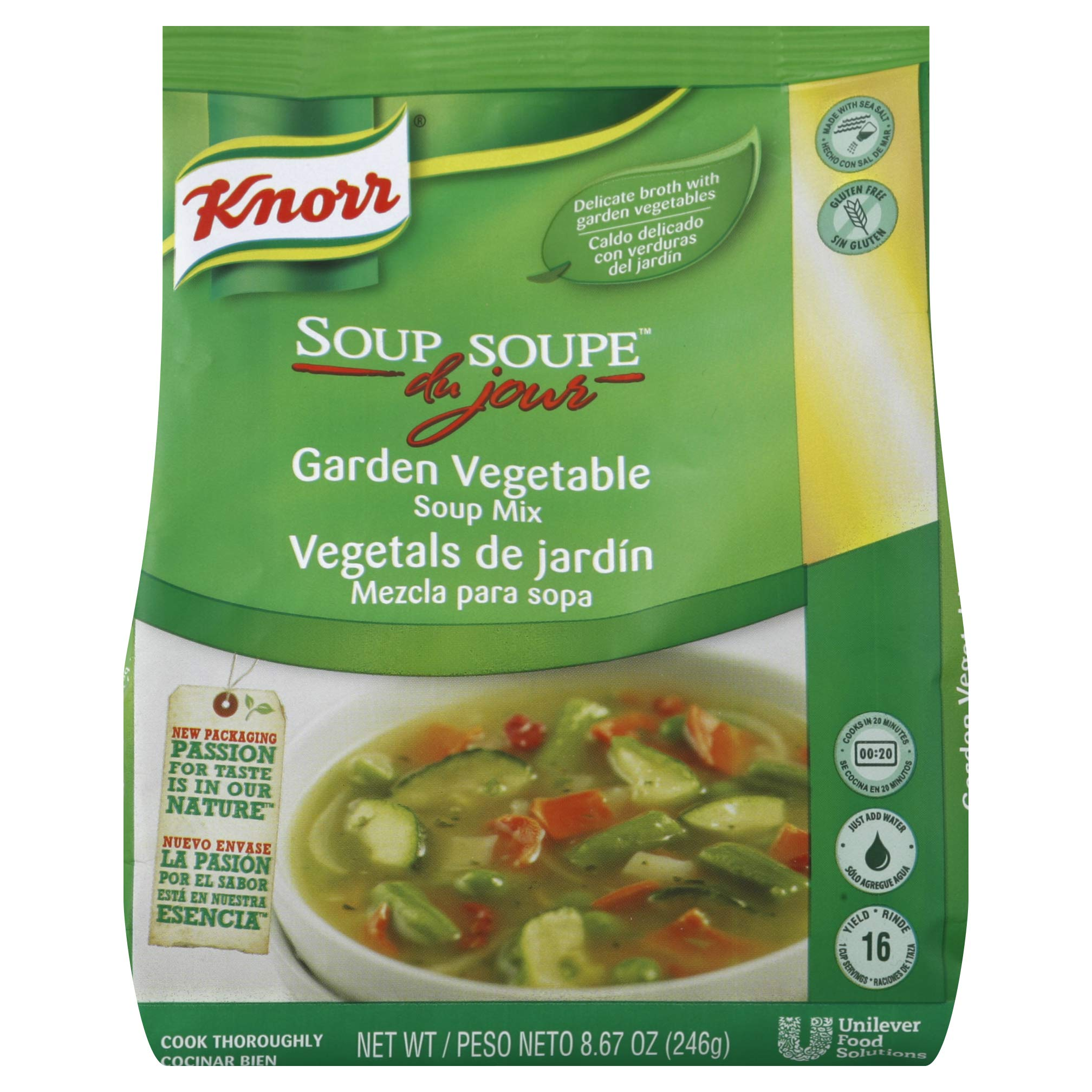 Knorr Soup du Jour Mix Garden Vegetable 8.7 ounces 4 count