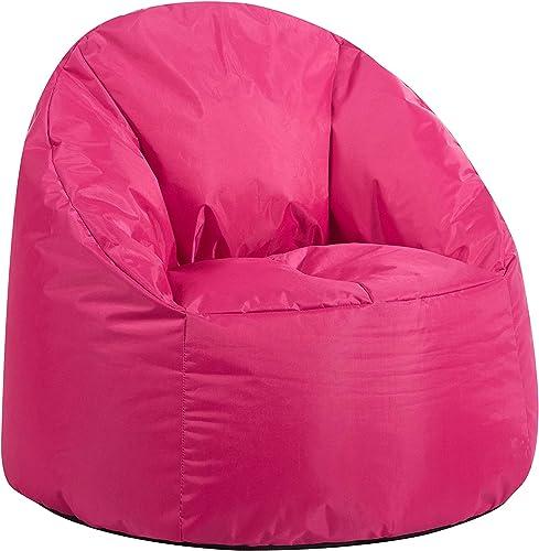 Best bean bag chair: Urban Shop Structured Canvas Round Back Bean Bag Chair