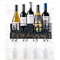 Ranita Home & Style- Rack Organizador de Vinos con Montaje en la Pared - Mueble para Vinos con Sujetador de Copas…