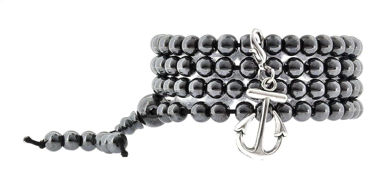 Unisex Yoga Meditation Simulated 108 Hematite Tibetan Prayer Beads Mala Wrap Bracelet Necklace