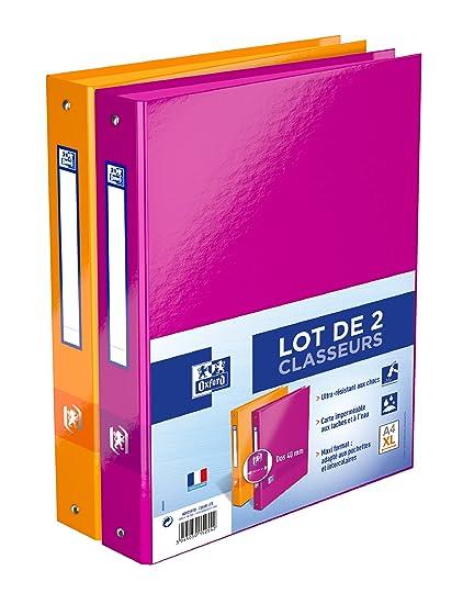 Elba color life – Juego de 2 archivadores de 4 anillas A4 X L lomo 40 mm