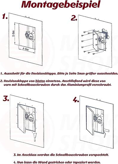 Revisionsklappe GK-Einlage gr/ün 25 mm Gipskarton Revisionst/ür Wartungst/ür Alu 6 200 x 500 mm