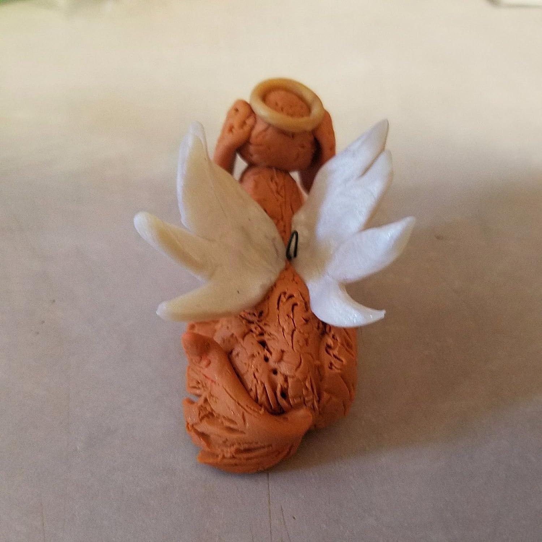 GOLDEN RETRIEVER ANGEL CHRISTMAS ORNAMENT Hand Made OOAK Memorial Ornament
