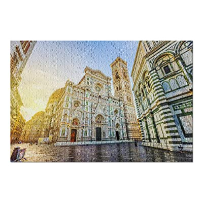 Florence, Italy - The Famous Cathedral of Florence in Piazza del Duomo 9023724 (Premium 500 Piece Jigsaw Puzzle for Adults, 13x19, Made in USA!): Toys & Games