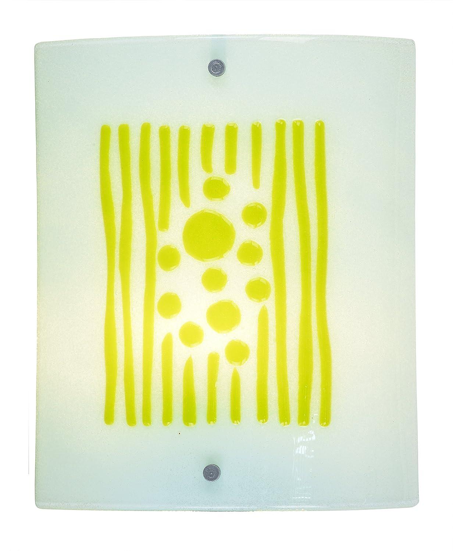 Springdale STW15116LED Lennon LED Fused Glass Wall Sconce, Silver ...