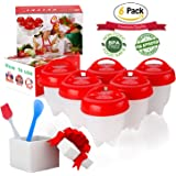 Egg Cooker ,Hard Boiled Eggs without the Shell,6PACK,Silicone Egg Boil,Soft Maker Egg Cooker, BPA Free, Non-Stick Silicone, As Seen On TV -by ZFITEI