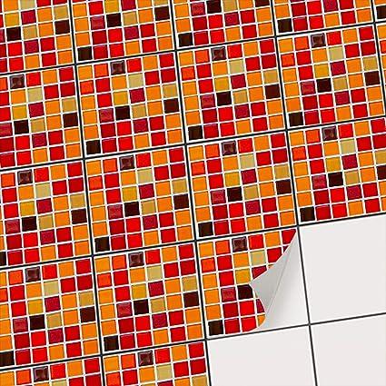 Carrelage mosaique adhésif I Autocollant Carreau Ciment - Décoration pour  muraux de Salle de Bain et Cuisine I Moderniser Credence Cuisine I Design  ...