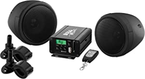 BOSS Audio Systems MCBK520B Motorcycle Speaker and Amplifier Sound System - Bluetooth, Weatherproof, 3 inch Speakers,